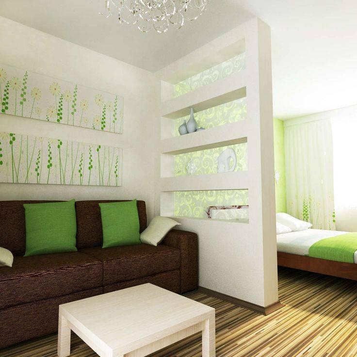 Гостиная и спальня в одном пространстве - 66 фото примеров