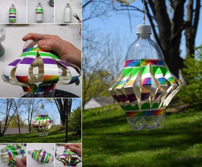 Мастер-класс по изготовлению вертушки из пластиковой бутылки своими руками