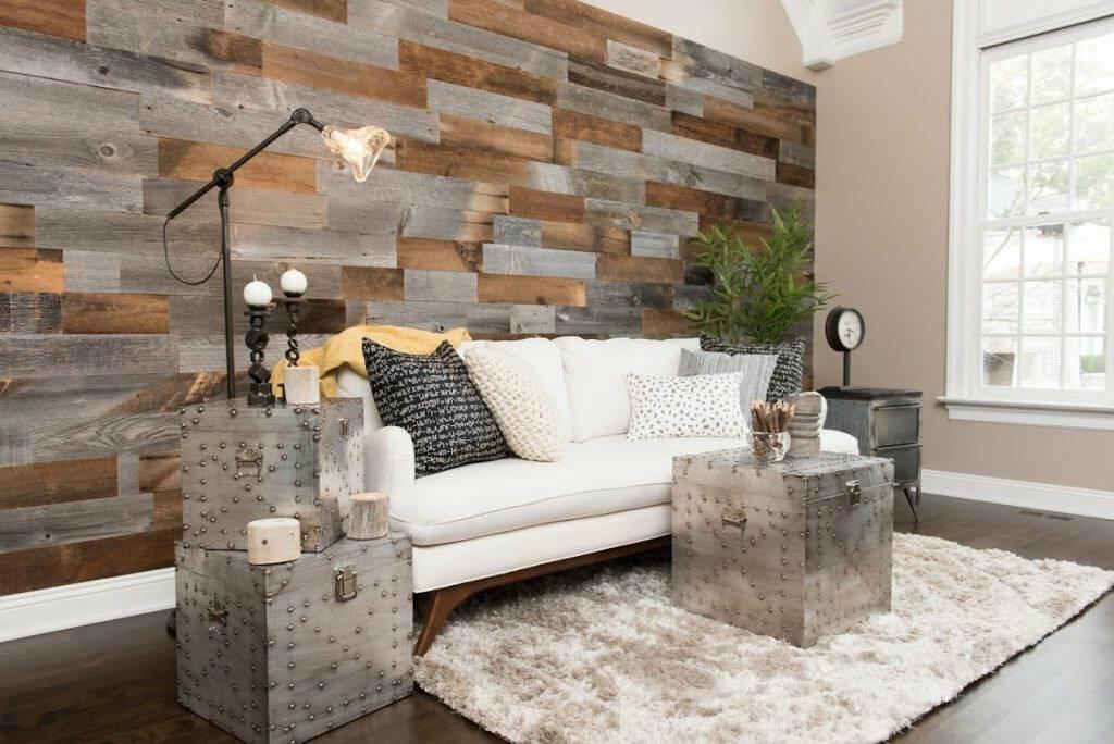 Отделка стен деревом в стиле лофт - особенности