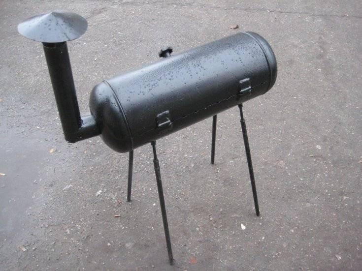 Мангал из газового баллона своими руками: чертежи с размерами, пошаговая инструкция