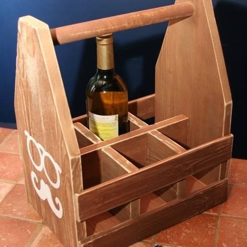 Деревянные держатели для винных бутылок: пять оригинальных проектов