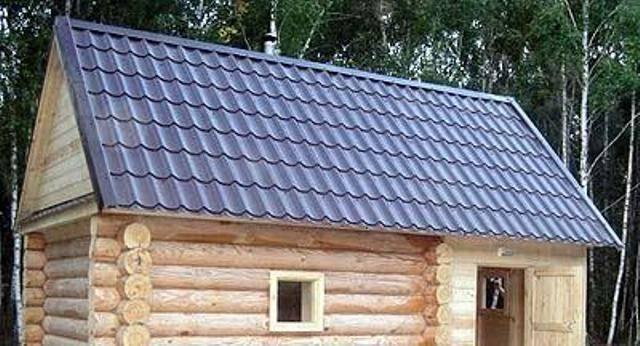Чем покрыть крышу бани: особенности материалов для кровли