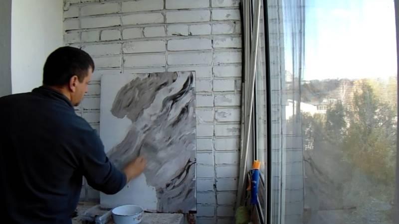 Декоративная штукатурка своими руками из обычной шпаклевки: принцип нанесения