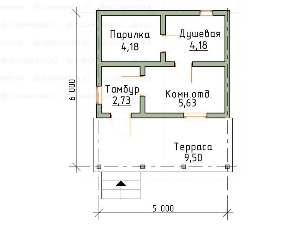 Баня 3 на 4 м: из чего и как строить своими руками