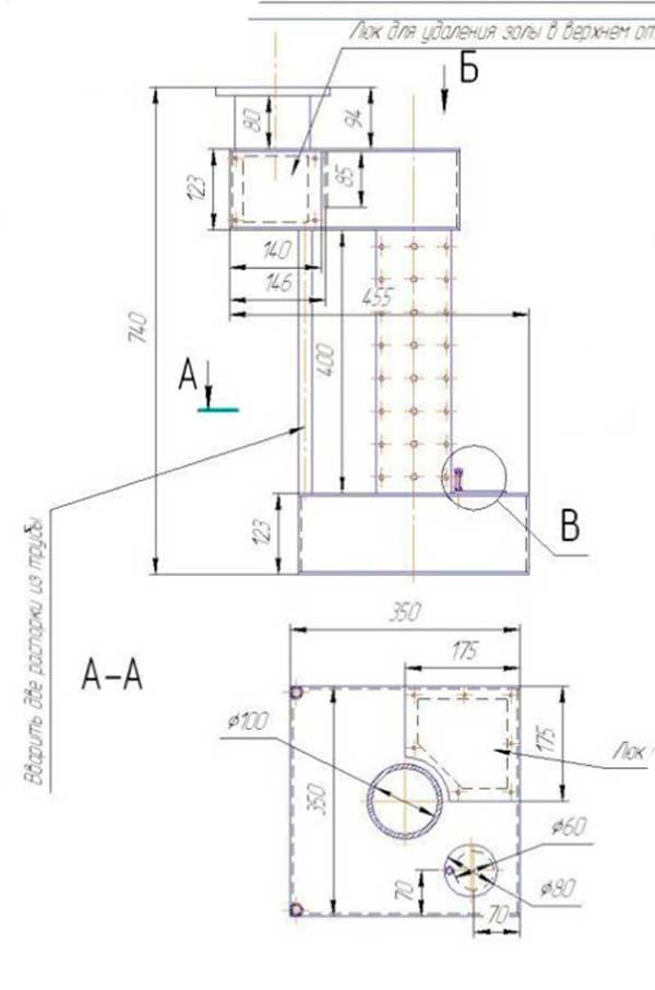 Печь на отработанном масле своими руками - чертежи, схема и видео инструкция