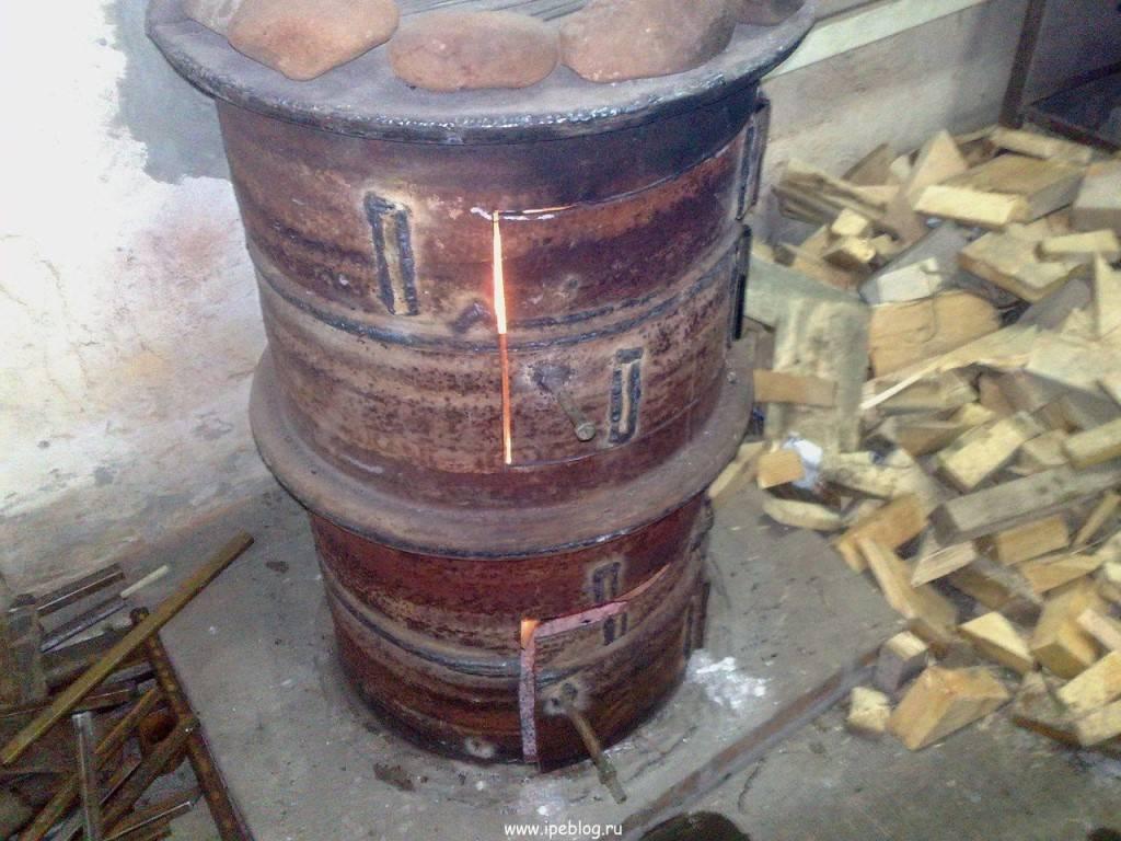Принципы изготовления печи из дисков автомобиля для бани