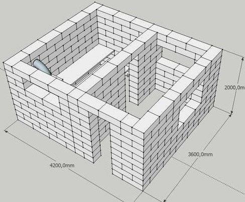 Проект бани из керамзитобетонных блоков