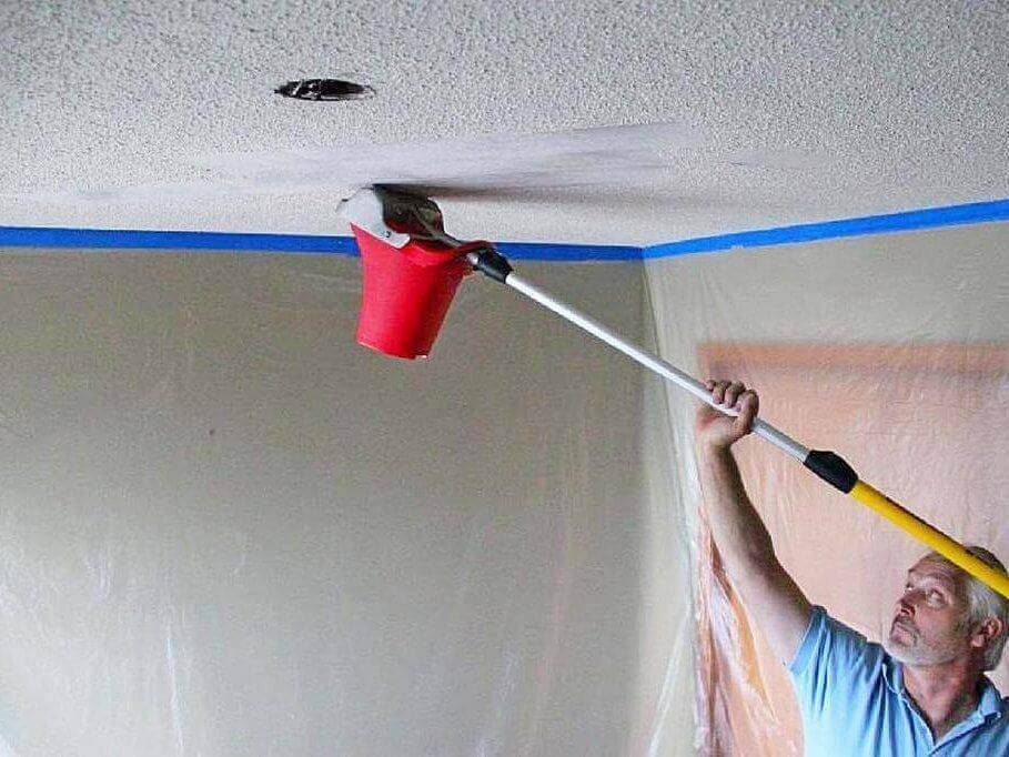 Покраска потолка водоэмульсионной краской: тонкости и хитрости - 33 фото