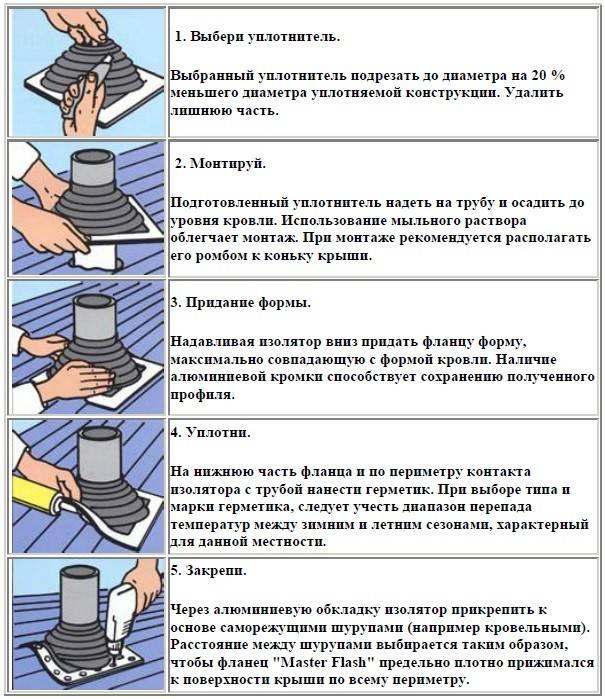 Как установить мастер флеш для дымохода на крышу своими руками — фото, пошаговое видео
