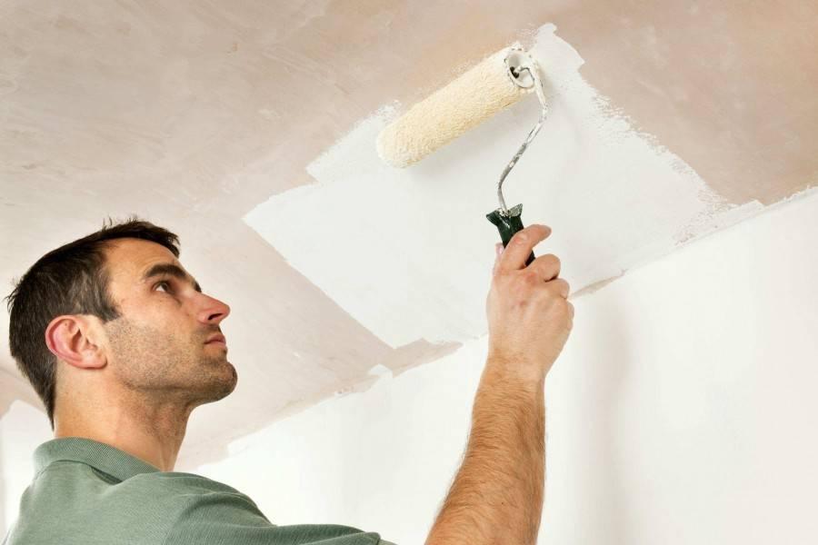 Как красить потолок валиком: как правильно покрасить потолок водоэмульсионной краской, чем лучше красить кистью или валиком, покраска