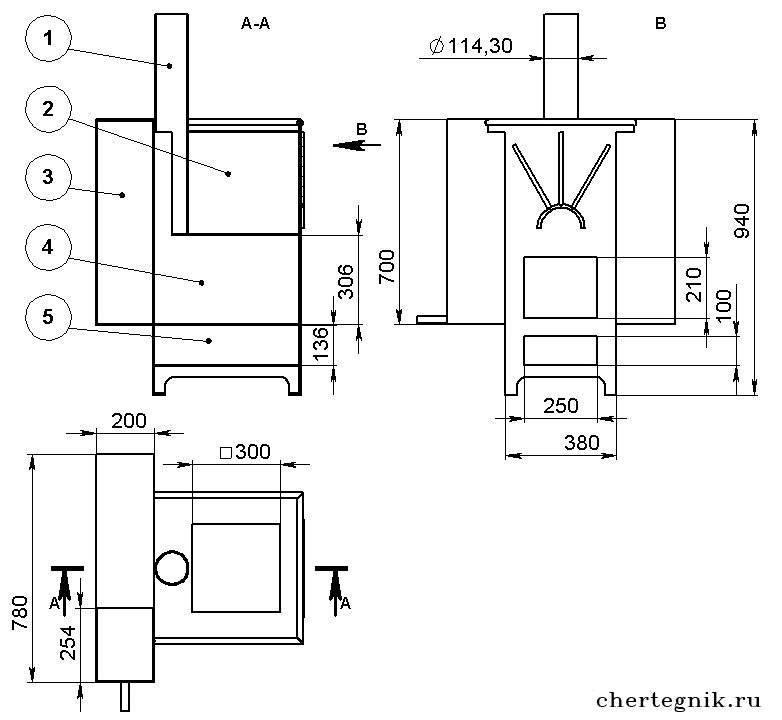 Конструкции печей для бани: проект банной печи из металла и кирпича, варианты толщины, чертежи