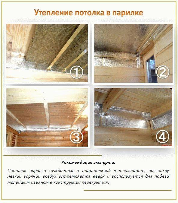 Выбор материала и этапы  обшивки потолка в бане
