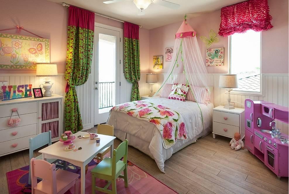 Шторы вдетскую комнату для девочки: примеры стильного современного оформления