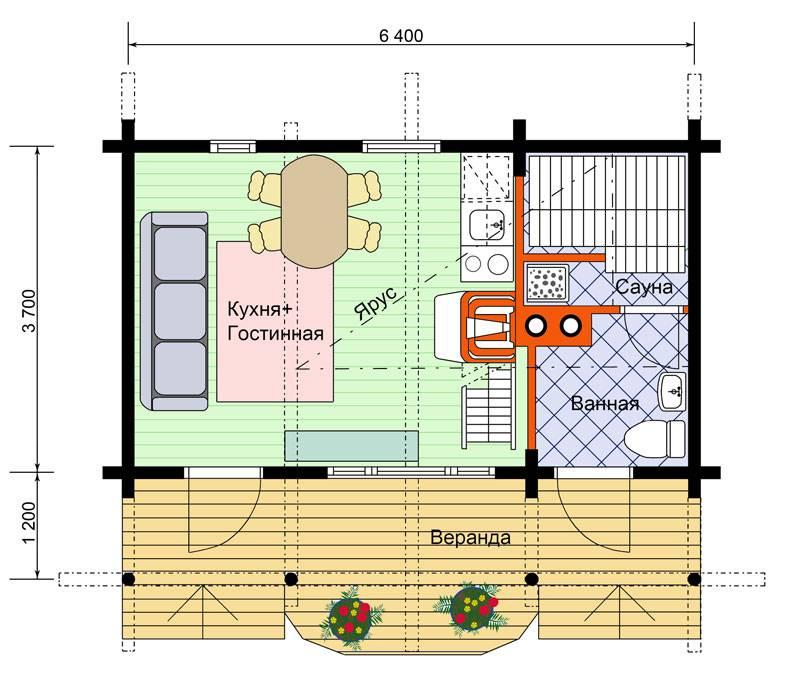 Разработка проекта и возведение бани с гостевым домом