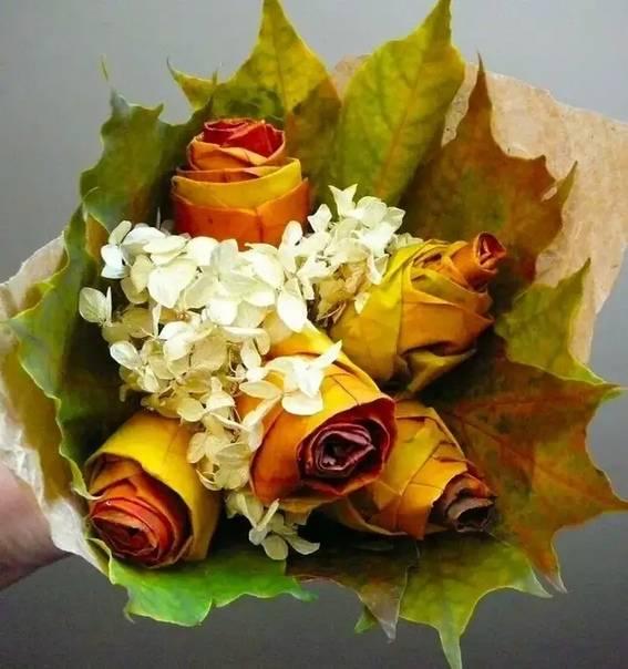 Осенние букеты своими руками: композиции с фото