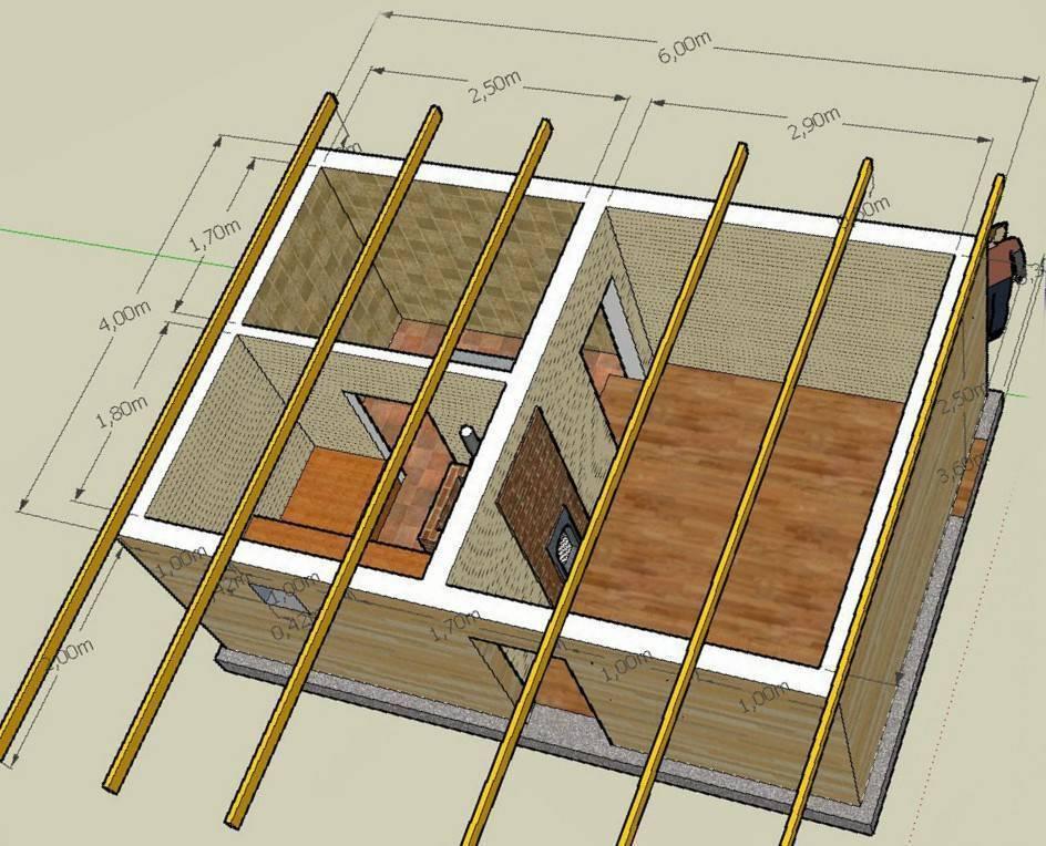 Как построить бюджетную мини баню на даче эконом вариант своими руками - чертежи - фото - видео