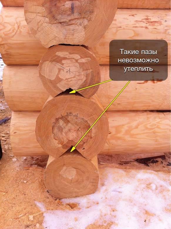 Усадка деревянных домов из бруса и бревна: величина, сроки