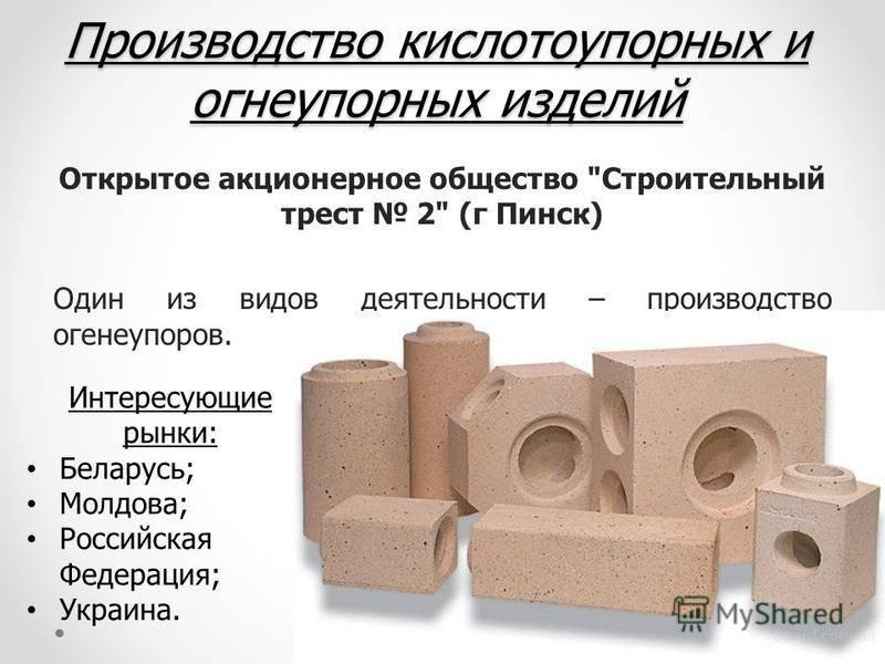 Кирпич шамотный огнеупорный: стандартные размеры и вес согласно госту