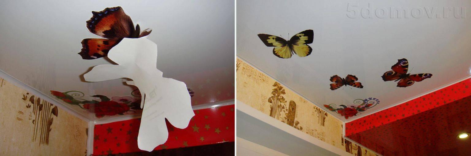 Дырка в натяжном потолке — чем заклеить, как спрятать, если проткнули, видео