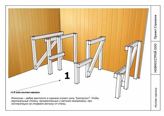 Полок и скамьи для бани: делаем своими руками