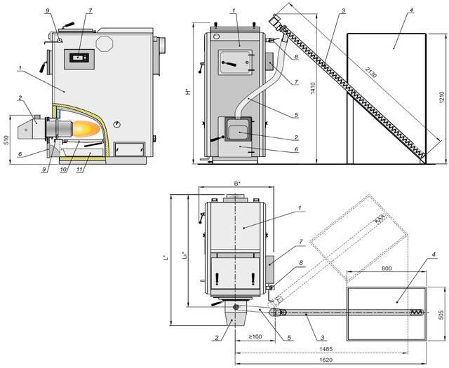 Пиролизные котлы отопления: принцип работы и виды котлов длительного горения