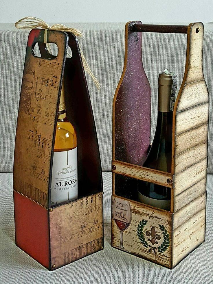 Подставки и держатели для вина из дерева: идеи и чертежи