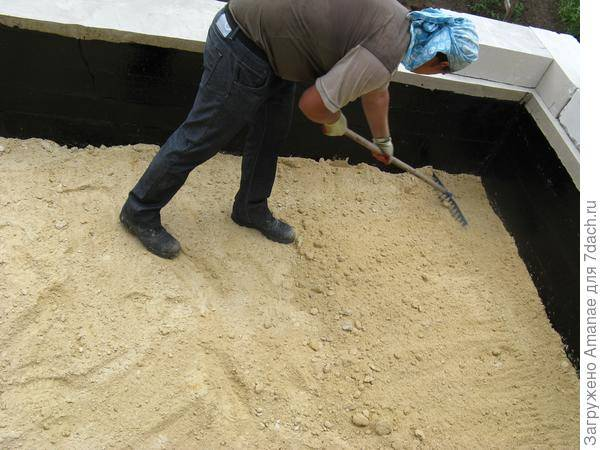 Какой стройматериал лучше для формирования подушки под фундамент: песок или щебень