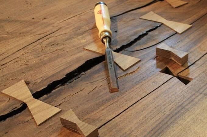 Как устранить трещины ⚡ в древесине своими руками