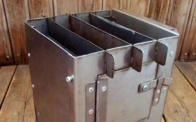 Печь-щепочница: варианты для похода и дачи, из покупных и подручных материалов