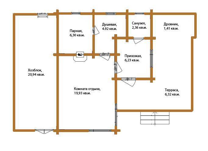 Разработка проекта и строительство бани с хозблоком