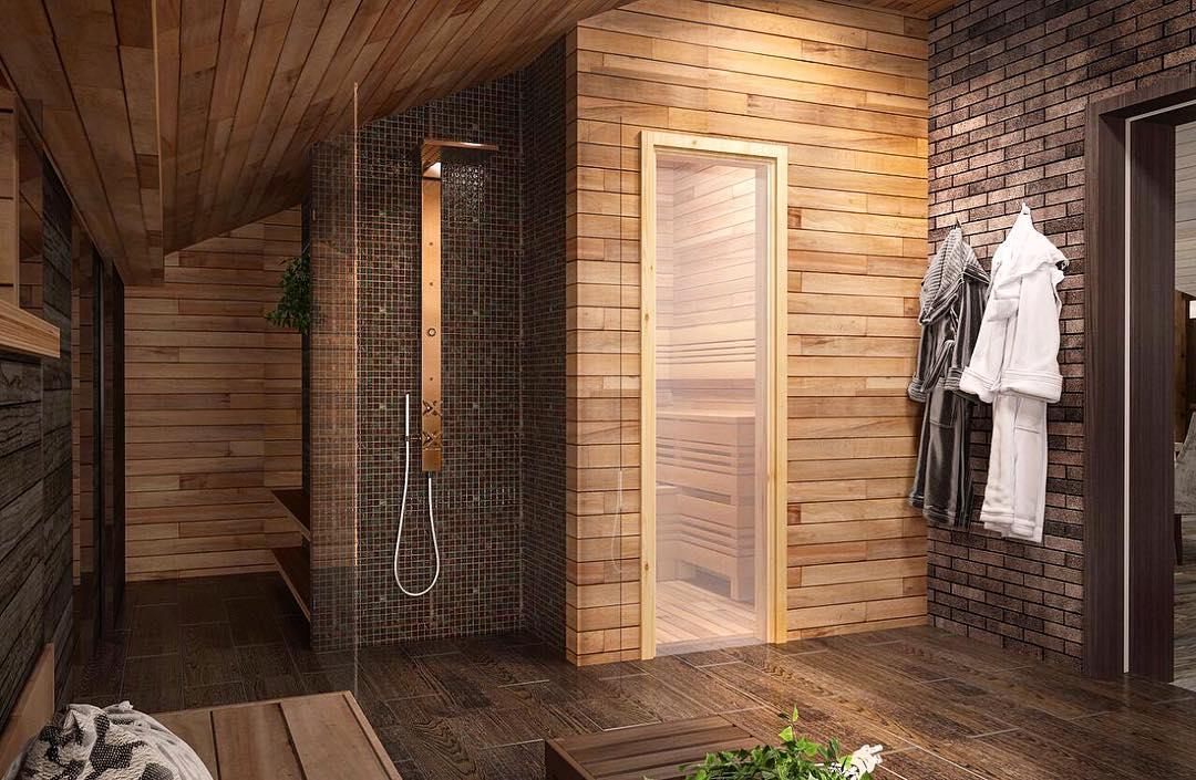 Дизайн интерьера бани: советы по оформлению, парилка, комната отдыха, предбанник, подбор отделочных материалов, цветовые решения   ileds.ru