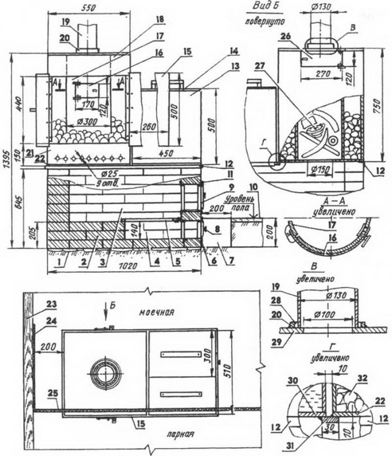 Делаем печь для бани своими руками из металла: чертежи и инструкция