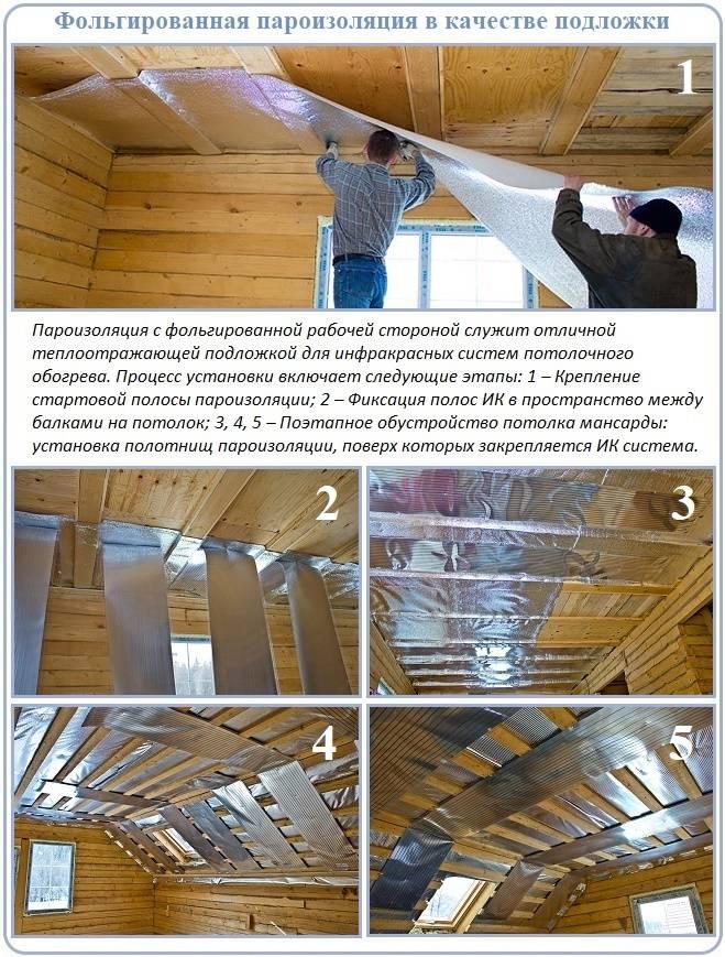 Зачем делать пароизоляцию потолка в бане?