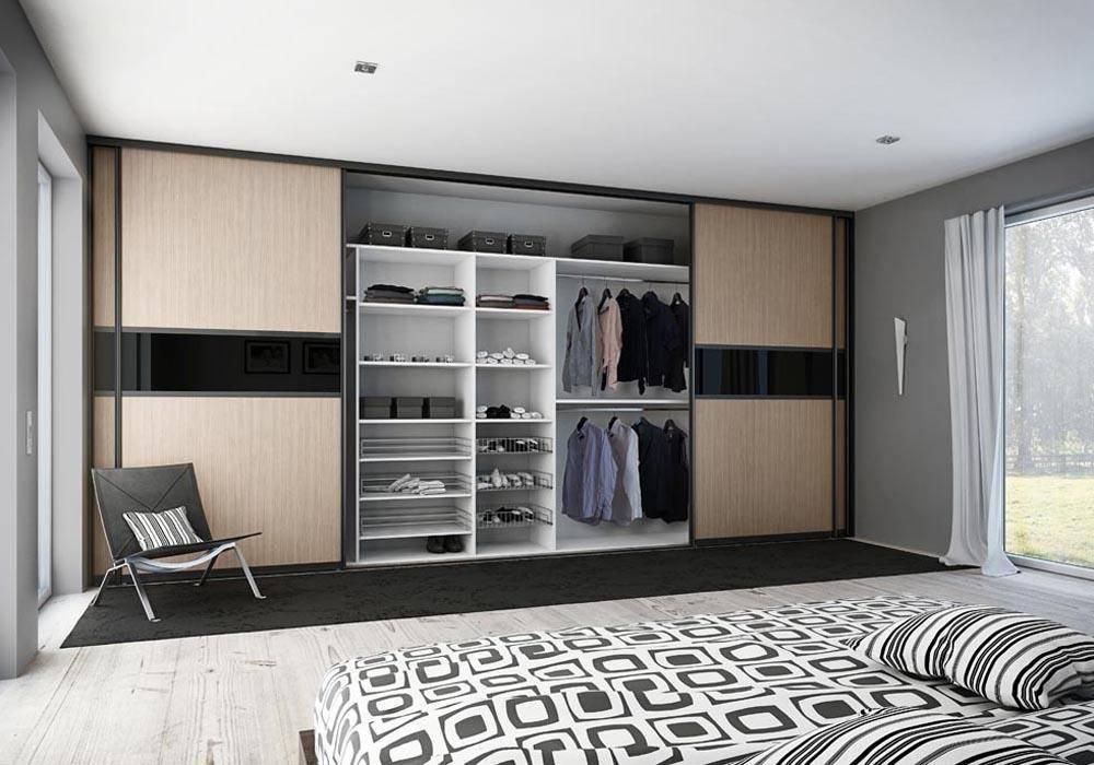 Спальня со шкафом-купе во всю стену: варианты размещения