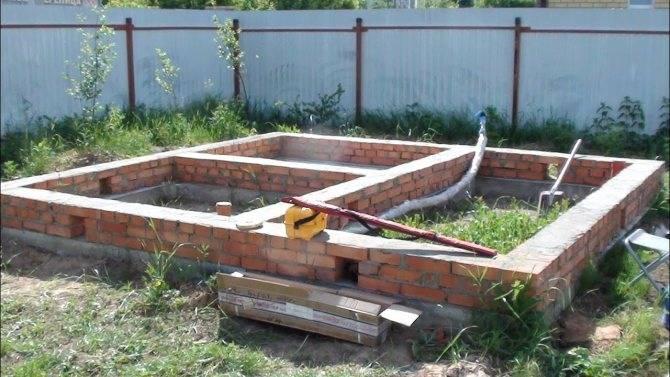 Какой фундамент подойдет для бани из бревна: какой лучше выбрать, какой нужен для бани из сруба, из бруса или из блоков