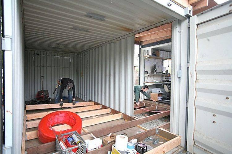 Возведение бани из морского контейнера — доступное и эффективное решение
