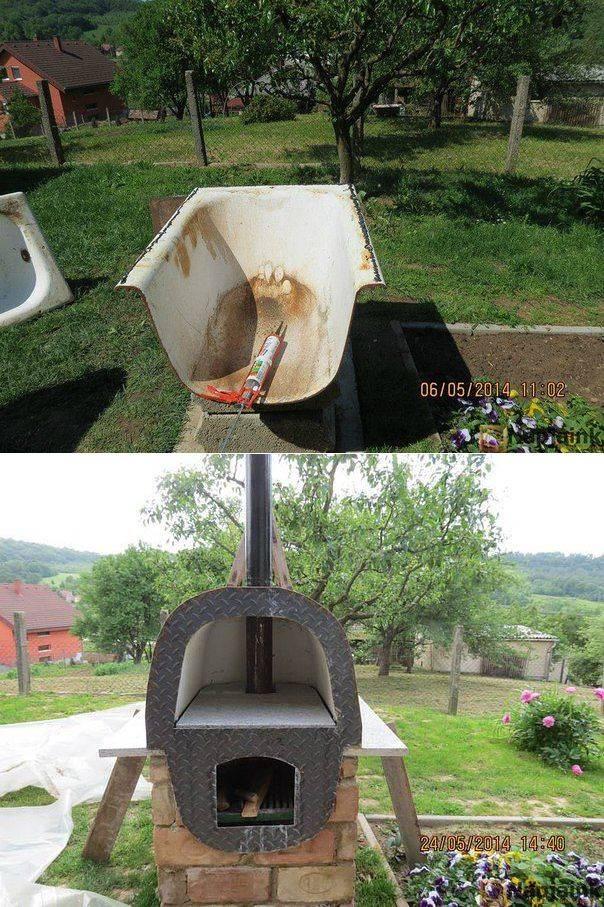 В хозяйстве нет ненужных вещей: можно сделать отличную печь из старой чугунной ванны