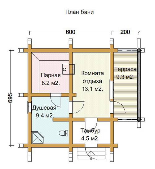 Проекты бань с террасой и барбекю (28 фото): зона отдыха 3 в 1 - happymodern.ru