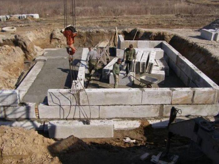 Фундамент под гараж из блоков фбс своими руками