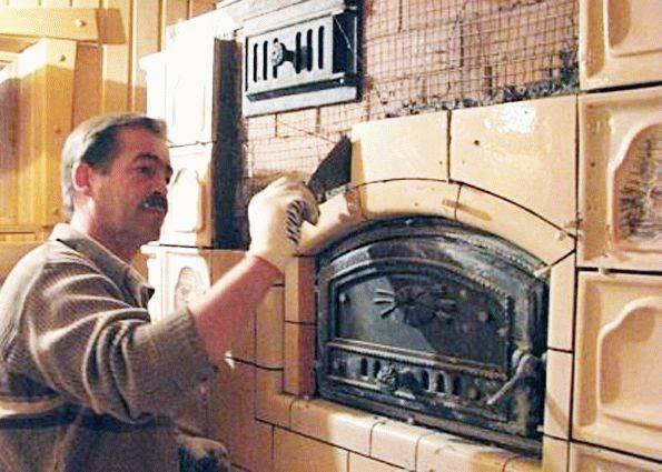 Облицовка печи керамической плиткой своими руками: 4 основных способа укладки