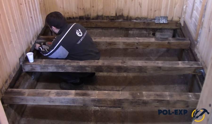 Холодный пол в бане: монтаж своими руками, почему напольное покрытие прохладное, фото