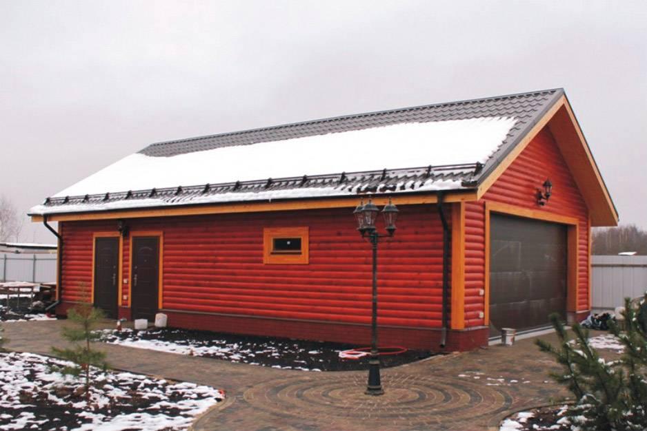 Гараж и баня под одной крышей – особенности и примеры проектов