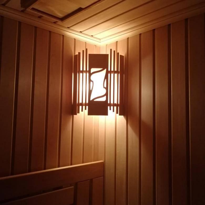 Светильники для бани в парилку: критерии выбора