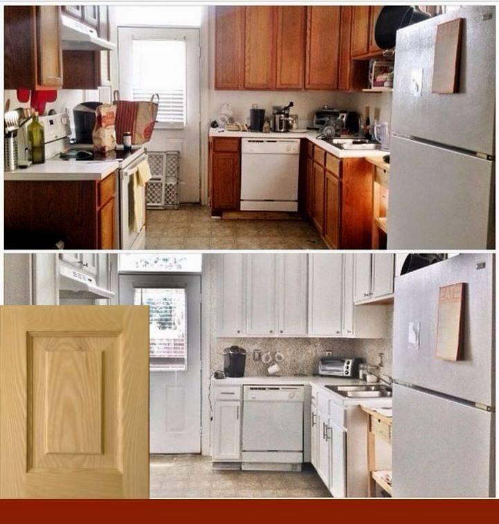 Как обновить старые фасады на кухне своими руками (19 фото)