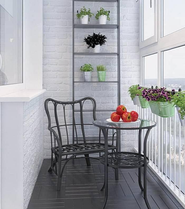 Декор балкона в скандинавском стиле