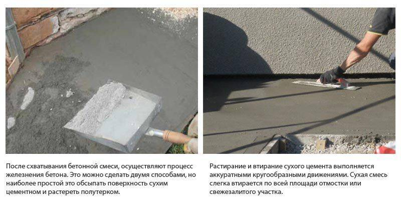 Как зажелезнить бетон
