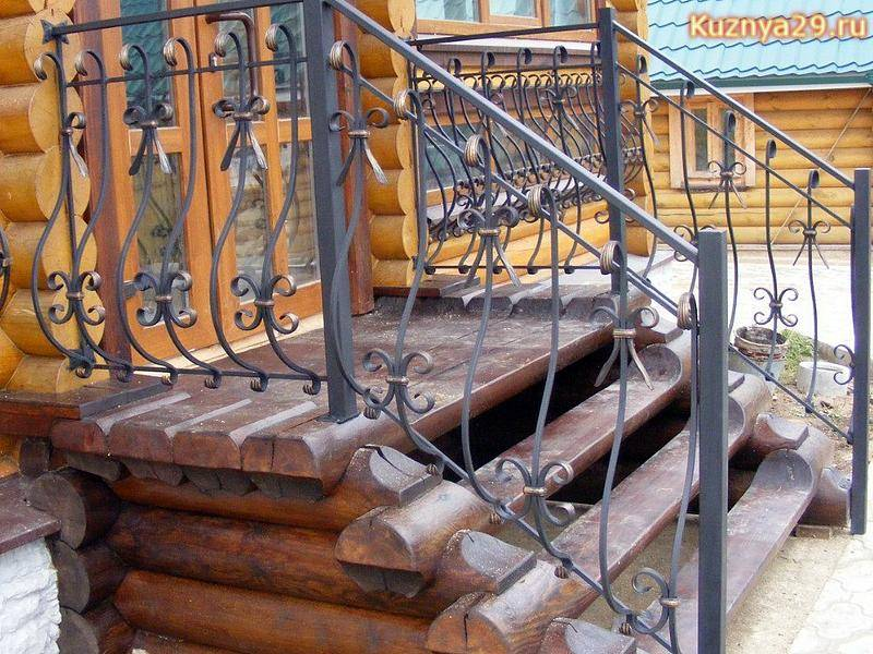 Кованые перила для лестниц своими руками - стиль изготовления, установка + фото