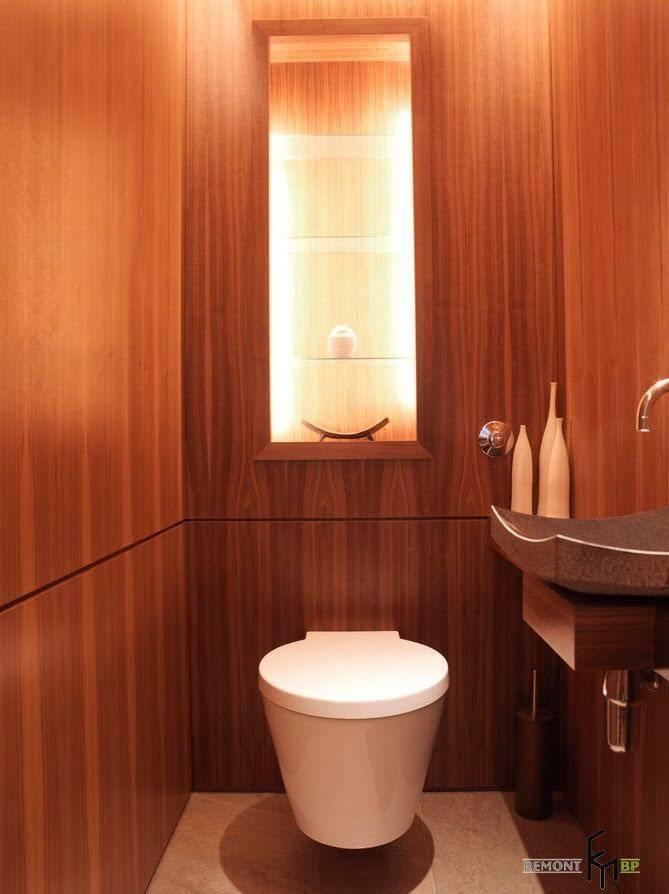 Полки в туалете: варианты дизайна