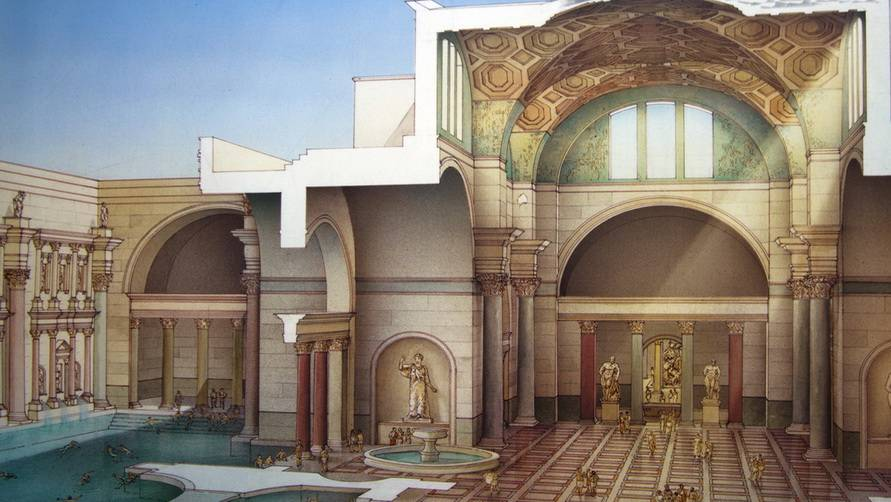 Римские бани терма, история появления, правила омовения распространение в наши дни