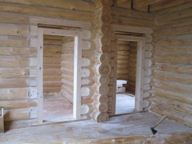 Обсада и окосячка — ставим двери, окна в деревянном доме